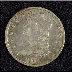 1835 BUST QUARTER XF DIE BREAK OBVERSE