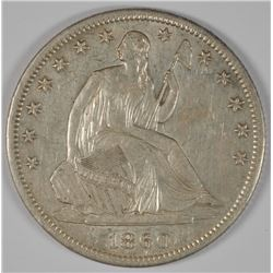 1860-S SEATED LIBERTY HALF DOLLAR CH BU TOUGH DATE