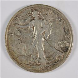 1918-S WALKING LIBERTY HALF DOLLAR XF-AU SCARCE
