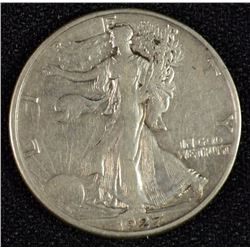 1927-S WALKING LIBERTY HALF DOLLAR XF SCARCE
