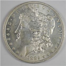 1882-O/S MORGAN DOLLAR CHOICE  AU