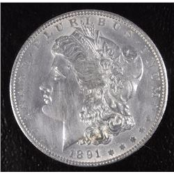 1891 MORGAN DOLLAR GEM BU