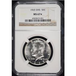 1965 SMS KENNEDY HALF DOLLAR, NGC MS-67*  ( STAR )
