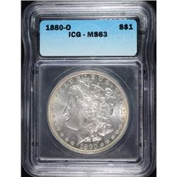 1880-O MORGAN DOLLAR ICG MS-63