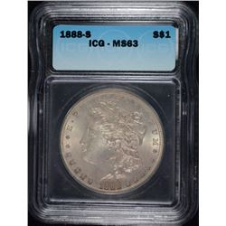 1888-S MORGAN DOLLAR ICG MS-63