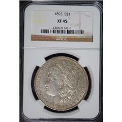 1893 MORGAN DOLLAR NGC XF-45