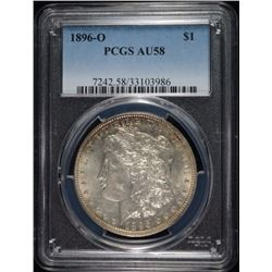 1896-O MORGAN DOLLAR PCGS AU-58