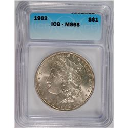 1902 MORGAN DOLLAR ICG MS-65