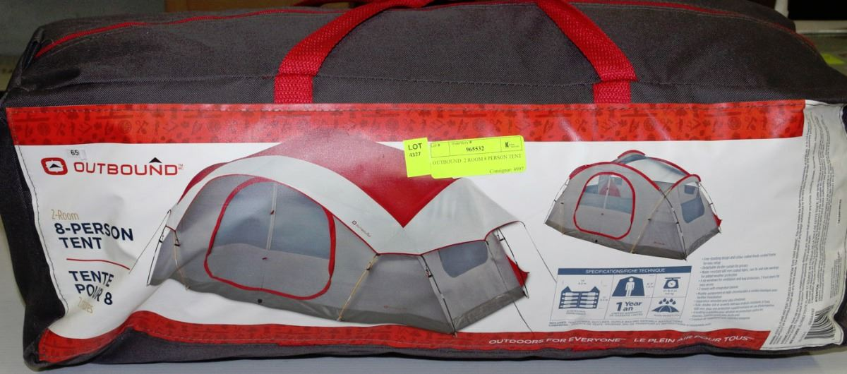 OUTBOUND 2 ROOM 8 PERSON TENT. Loading zoom & OUTBOUND 2 ROOM 8 PERSON TENT