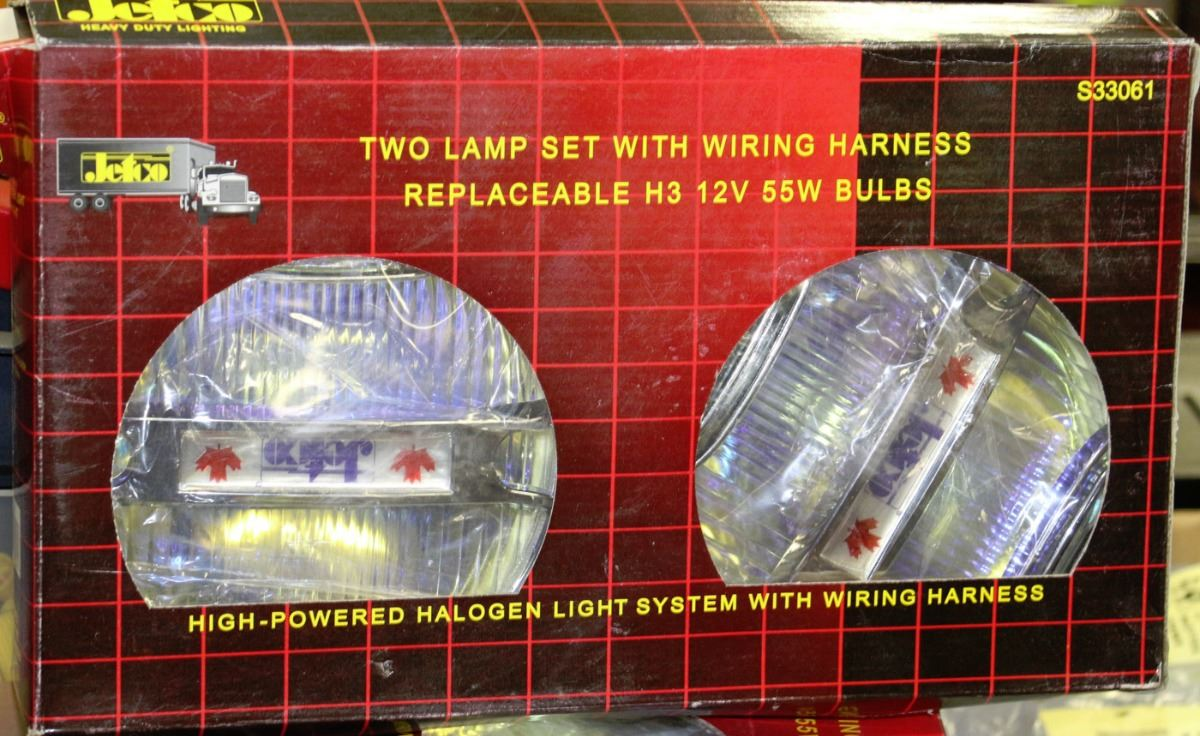 Lot Of 2 Jetco Lamp Set With Wiring Harness A Halogen Image 1