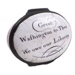 George Washington - Rare Battersea Box