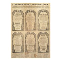 "Andrew Jackson - First ""Coffin"" Handbill"