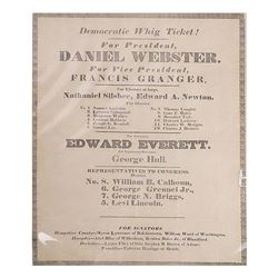 Daniel Webster - Presidential Campaign Broadside