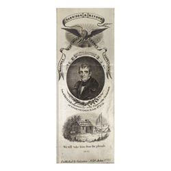 William H. Harrison - 1841 Reform Campaign Ribbon