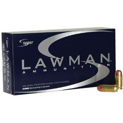10 BOXES Speer 53608 Lawman 380 ACP Full Metal Jacket 95 GR (500 ROUNDS) .076683536082