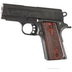 "Colt O7810D New Agent 45 ACP 3"" 7+1 Wood Grip Blk Frame Blued Slide .098289041937"