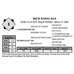 Lot 1 - RED KING 514