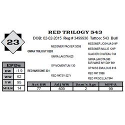 Lot 23 - RED TRILOGY 543