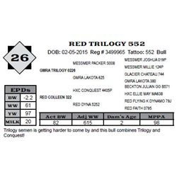 Lot 26 - RED TRILOGY 552