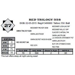 Lot 27 - RED TRILOGY 558