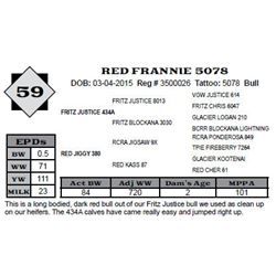 Lot 59 - RED FRANNIE 5078