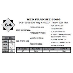 Lot 64 - RED FRANNIE 5096