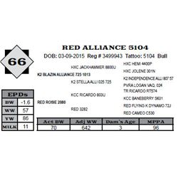 Lot 66 - RED ALLIANCE 5104