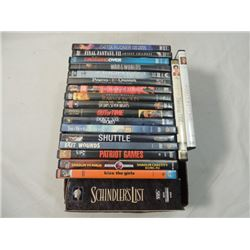 DVD MOVIE LOT 19 SCHINDLER'S LIST VHS SET MORE