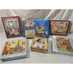PUZZLE BOX LOT MOST NEW SEALED