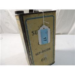 STANDARD OIL CO SUPERLA CREAM SEPARATOR OIL CAN