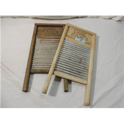 PAIR DUBL HANDL ANTIQUE WASHBOARDS COLUMBUS