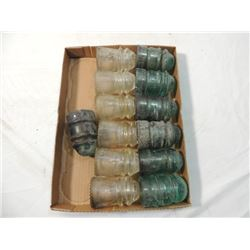 LOT 13 GLASS INSULATORS ELECTRIC HEMRINGRAY MORE