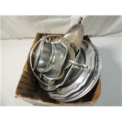 ALUMINUM COLLECTIBLE TRAY LOT PEWTER MORE!!