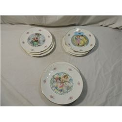 9 ROYAL DOULTON VALENTINE'S DAY PLATES 1976-1985