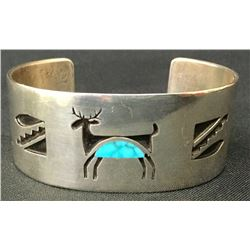Overlay Bracelet With Turquoise Inlay