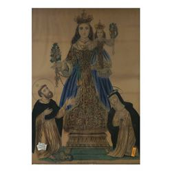 Hand-colored Engraving - Religious Scene