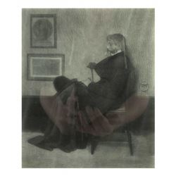 H. Wolf, Engraving - Seated Man
