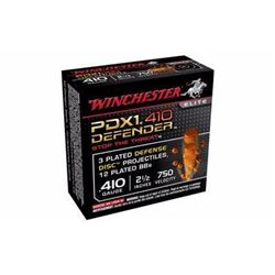 "15 BOXES WINCHESTER DEFENDER Elite PDX1 410 ga 2.5"" 12 BB Pellet (150 ROUNDS) .020892020054"