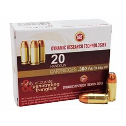 10 BOXES Dynamic Research 81155 Terminal Shock 380ACP +P JHP 85GR (200 ROUNDS) .897409001505