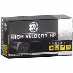 20 BOXES RWS High Velocity 22 LR 40 Grain HP Bullet 1263 FPS (1000 ROUNDS) .4000294132490