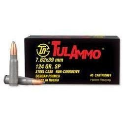 10 BOXES Tulammo UL076213 Centerfire Rifle 7.62X39mm 124GR Soft Point (400 ROUNDS) .814950010084