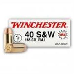 10 BOXES Winchester Ammo USA40SW Best Value USA 40 S&W FMJ 165 GR (500 ROUNDS).020892212350