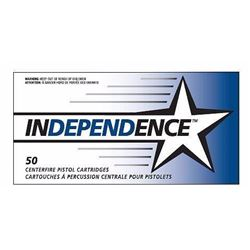 10 BOXES 5258 Independence 40S&W Full Metal Jacket 180 GR (500 ROUNDS) .076683052582