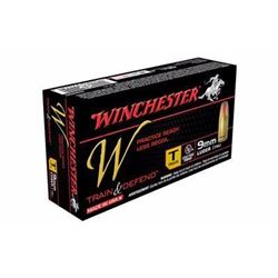 10 BOXES Winchester Ammo W9MMT Train 9mm Full Metal Jacket 147 GR (500 ROUNDS) .020892220478