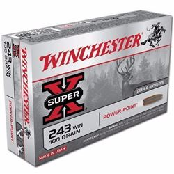 *AMMO* WINCHESTER X2432 Super-X 243 Winchester Power-Point 100 GR (200 ROUNDS) 020892200043