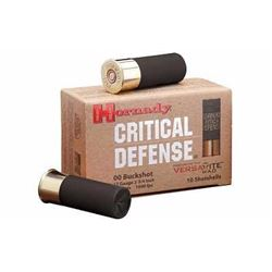 "Hornady Critical Defense 12ga 2.75"" 00 Buckshot 200 shells UPC 090255862409"