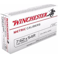 Winchester Ammo Metric 7.62x54mm Russian FMJ 180 GR 200 Rounds UPC 20892212619