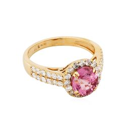 18KT Rose Gold 2.29ct Spinel and Diamond Ring