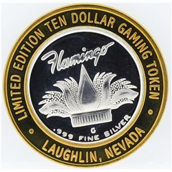 Flamingo Laughlin $10 Casino Gaming Token .999 Fine Silver Limited Edition