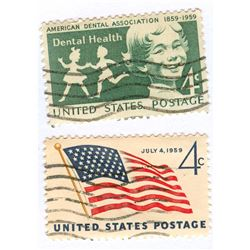 United States Postage Stamps Lot of 2